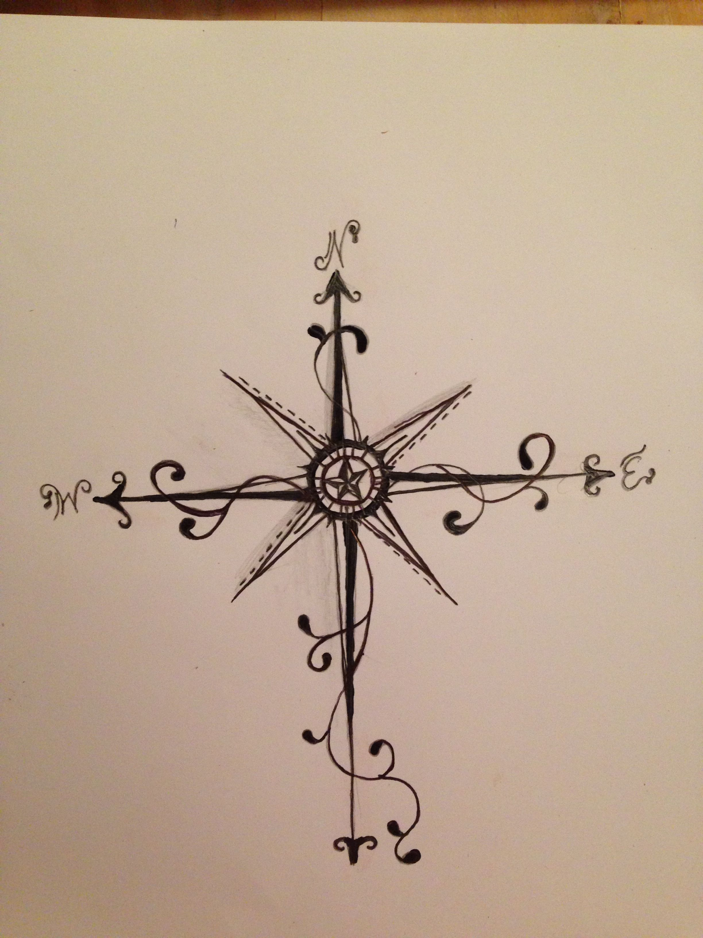 Compass Tattoo Line Drawing : Compass things that inspire me pinterest