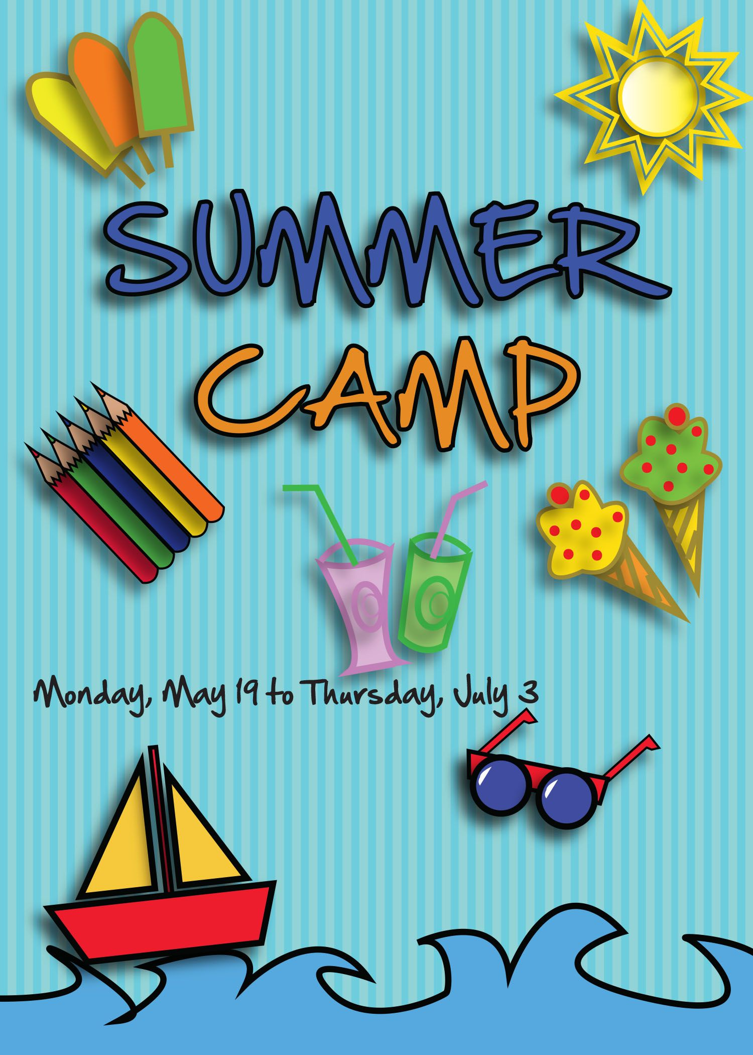 Here You Will Find A Free Flyer For Promoting Summer Camp Events - Summer camp brochure template