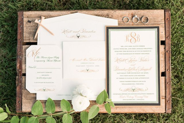 Golf Themed Wedding Invitations Audrey Rose Photography See More On Http