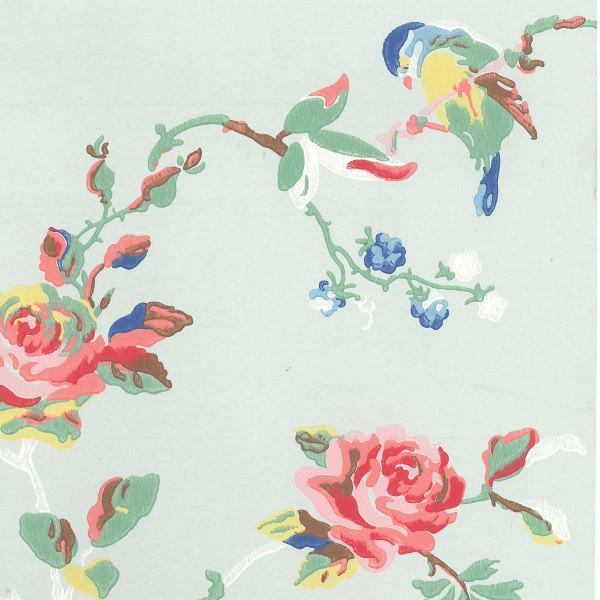 Wallpaper Birds & Roses Wallpaper CathKidston Cath