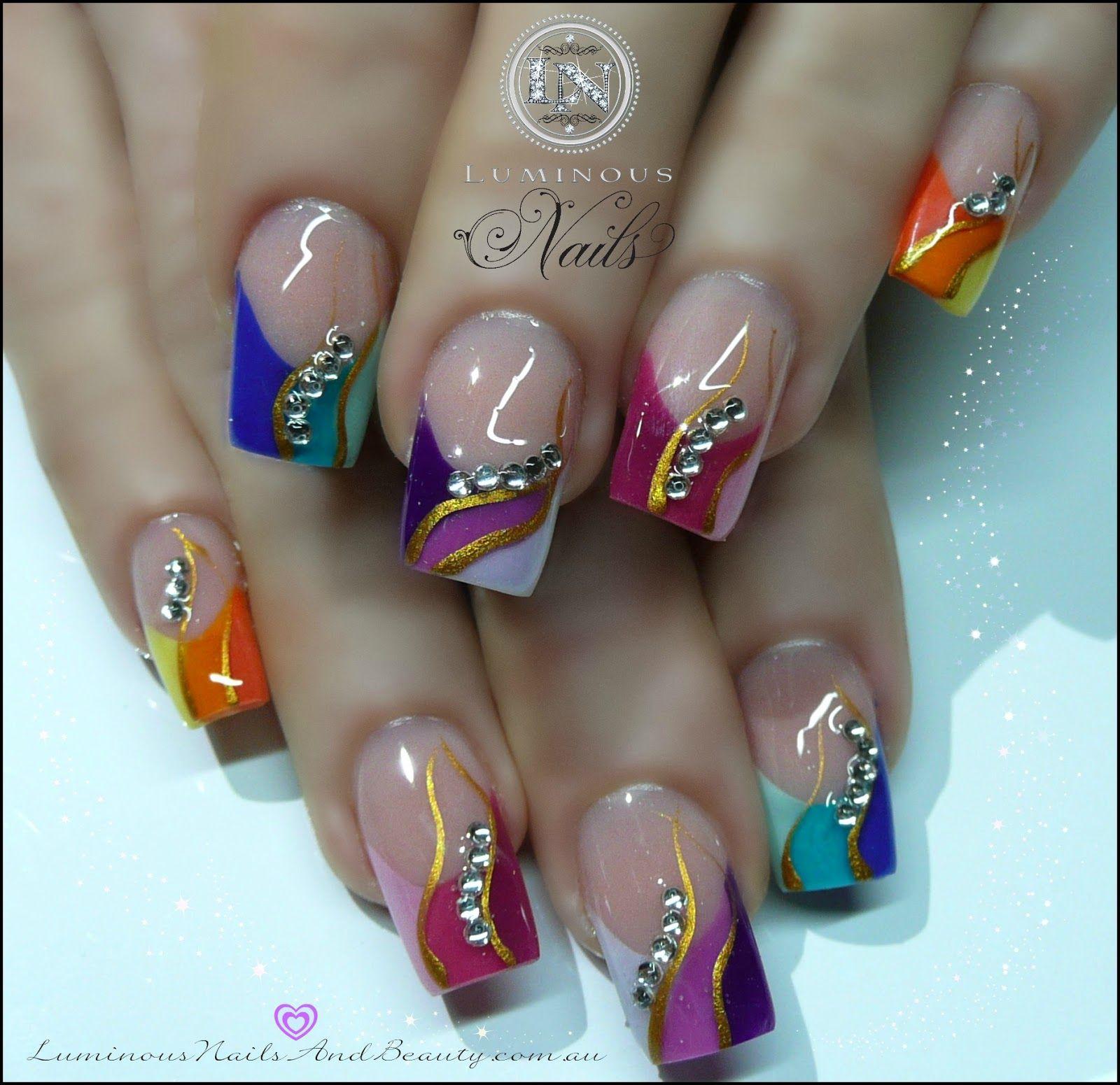Luminous Nails | Nail Art | Pinterest | Luminous nails, Toe nail ...