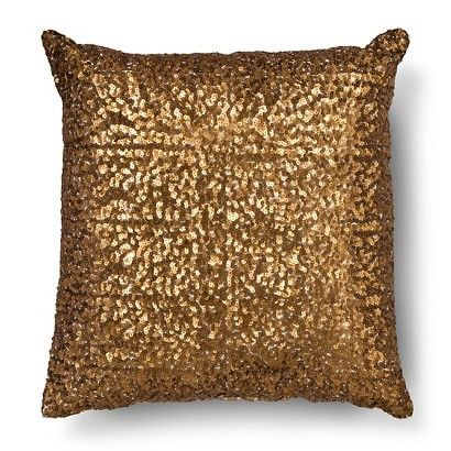 Bronze All Over Sequin Square Throw Pillow Xhilaration™ Squares Gorgeous Bronze Decorative Pillows