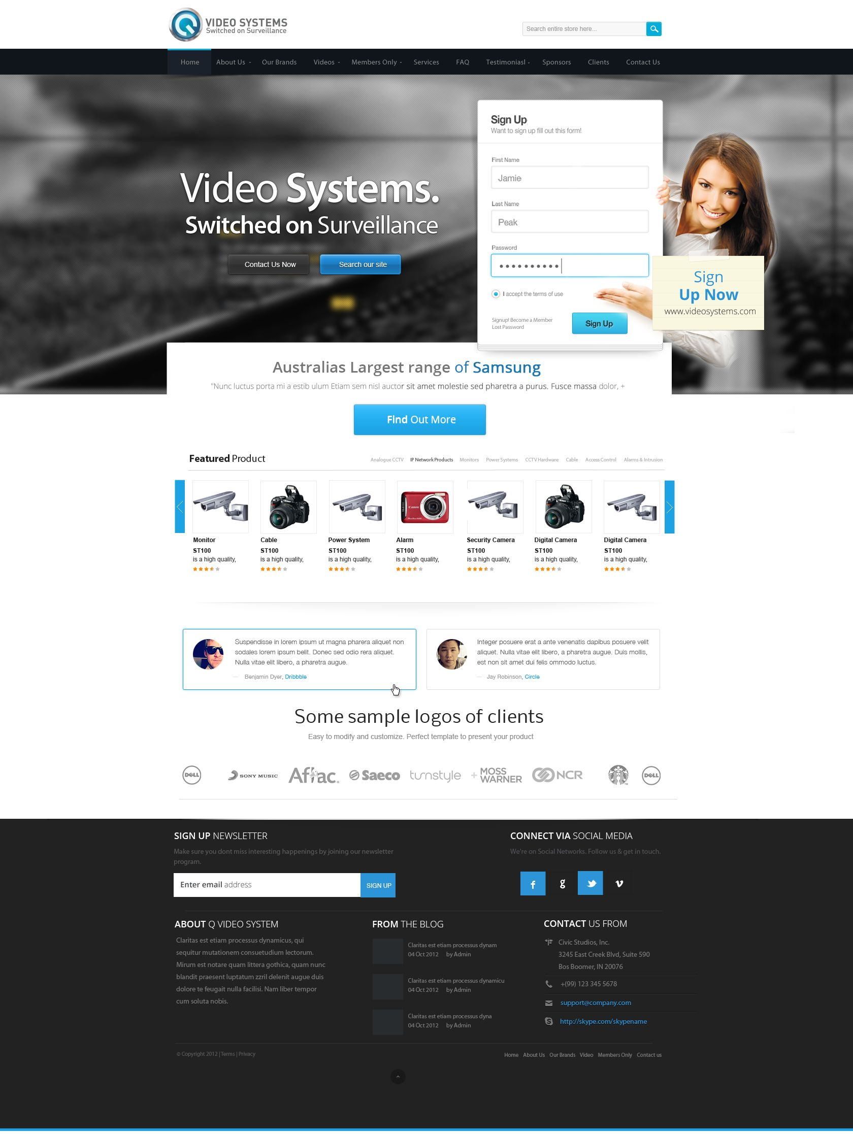 Video System Web Design By Vasiligfx Website Layout Web Design Website Design Layout
