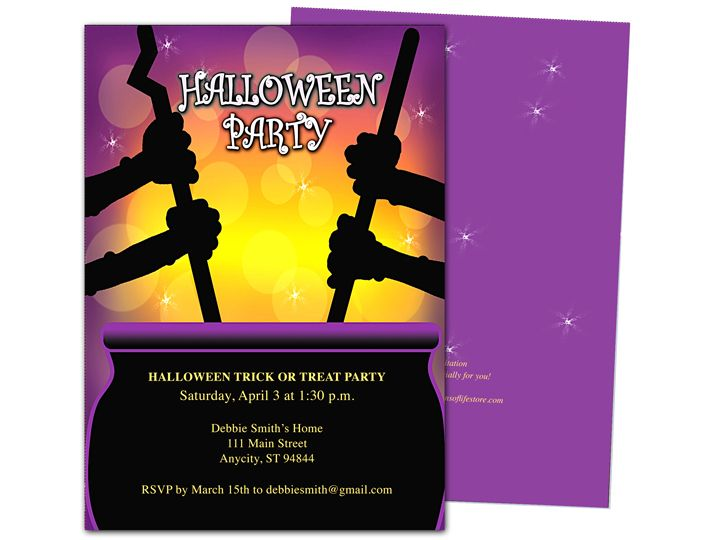 Brew halloween party invitation template halloween party