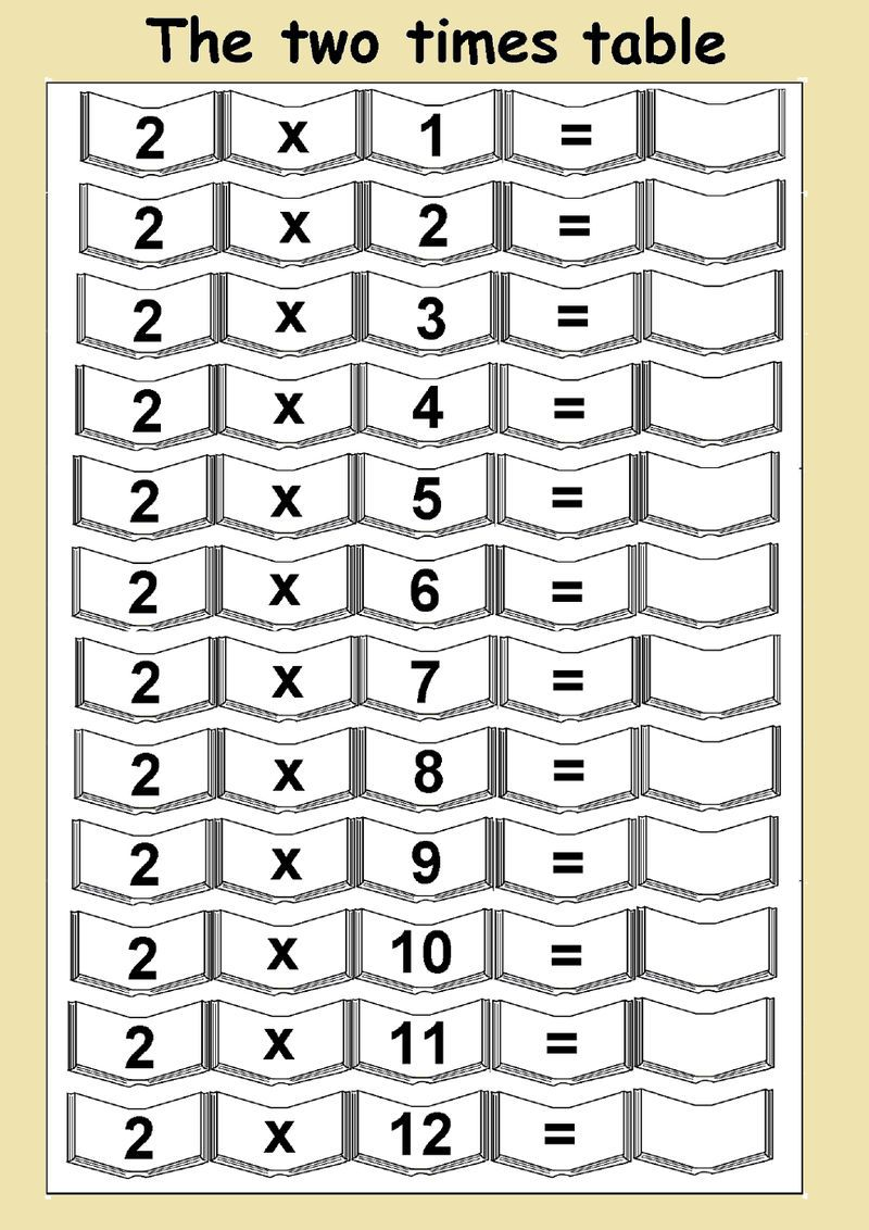 hight resolution of 2 Times Table Worksheets Free   2 times table worksheet
