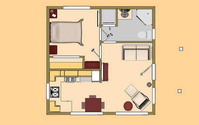 20 X 20 400 Sq Ft Box Flickr Tiny House Floor Plans Small House Floor Plans Unique Small House Plans