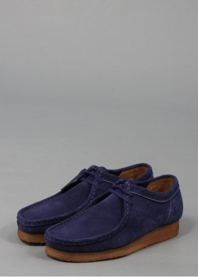 16d1b476631 Clarks Originals Wallabee Dark Blue