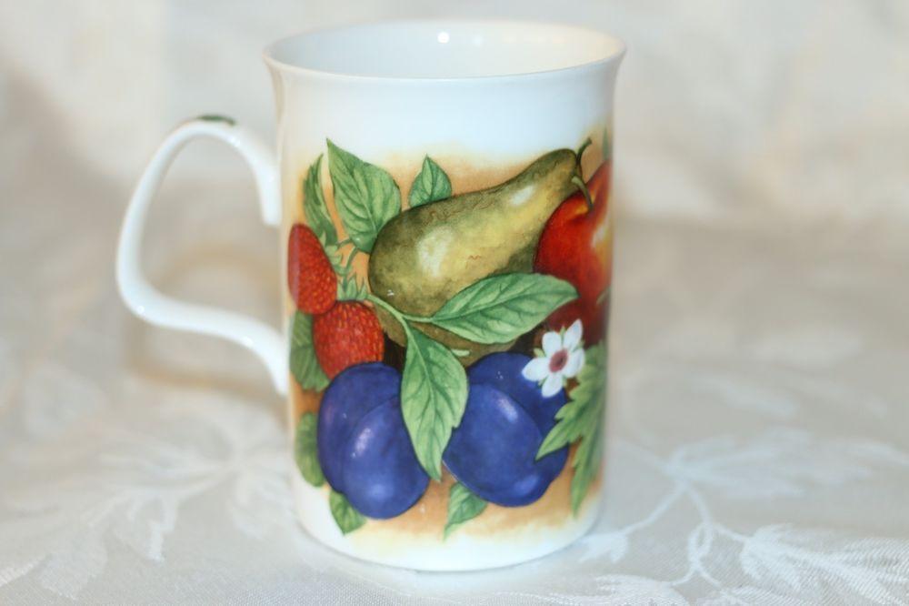 Roy Kirkham Orchard Fine Bone China Coffee Tea Cup Mug England Fruit Apple Pear Roykirkham
