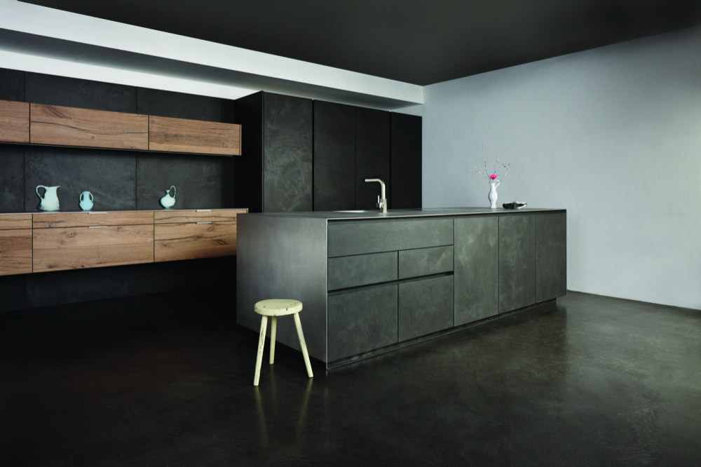 Best This Handleless Dark Grey Chablis Kitchen Has An Eye 640 x 480