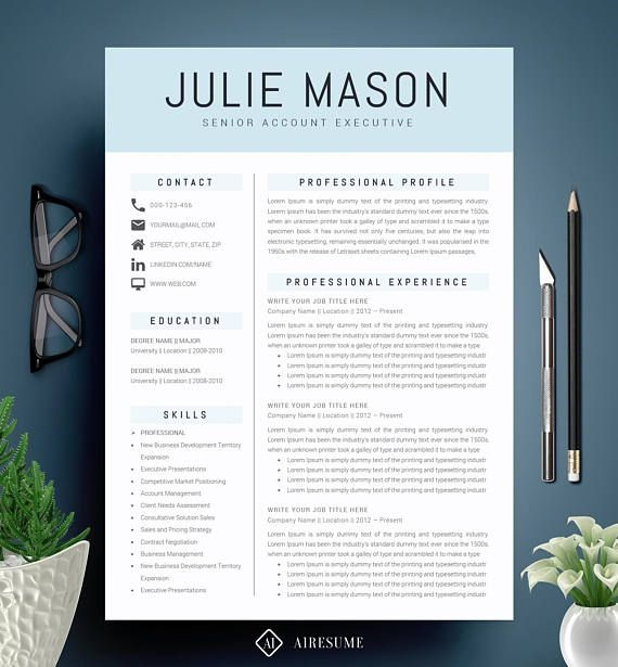 Modern Resume Template / CV Template + Cover Letter Creative