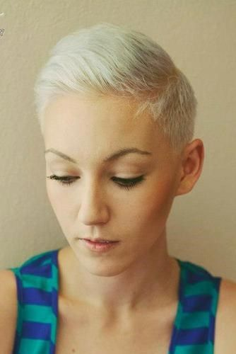Ultra Short Women S Crop With Clipper Cut Sides Slight Pompadour Or Spike It Up Top