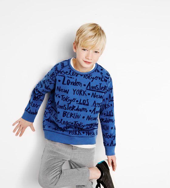 Text Sweatshirt Amp Skinny Trousers Zarakids Boysonfleek