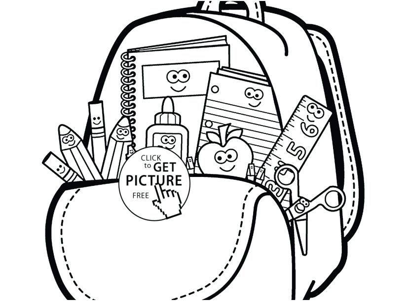 School Supplies Coloring Page Back To School Coloring Pages Free