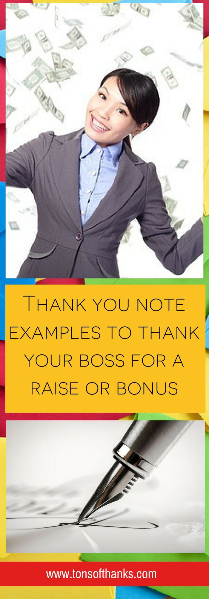 35 Thank you note to boss for raise or bonus examples with