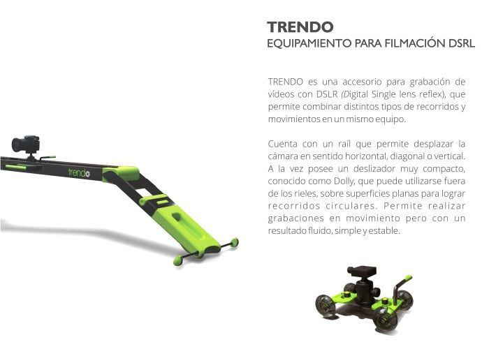 TRENDO - Equipamiento para filmación DSRL by Macarena Martinez de Sucre at Coroflot.com