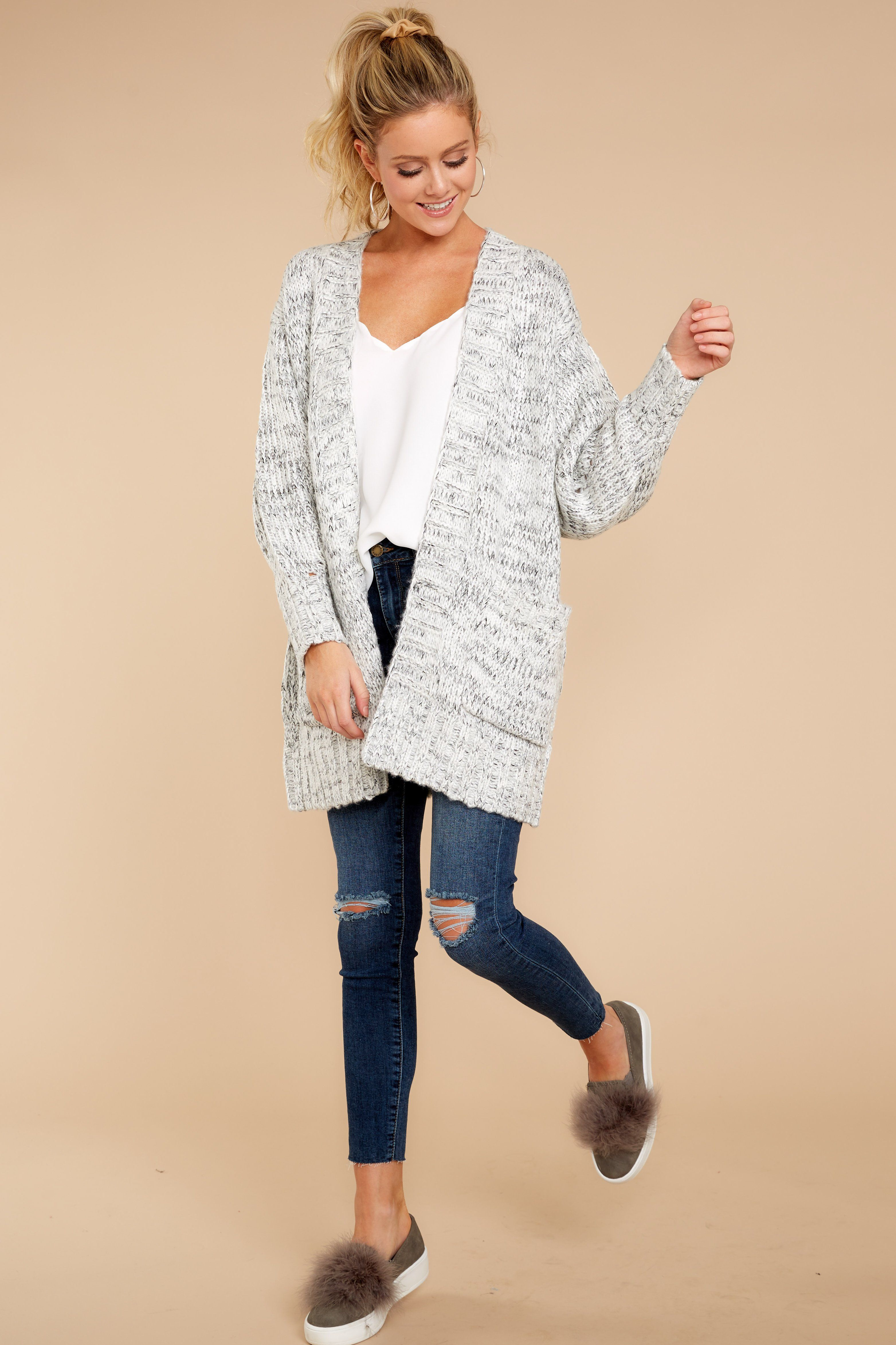 57f59901e7 Fit For Fall Heather Grey Cardigan