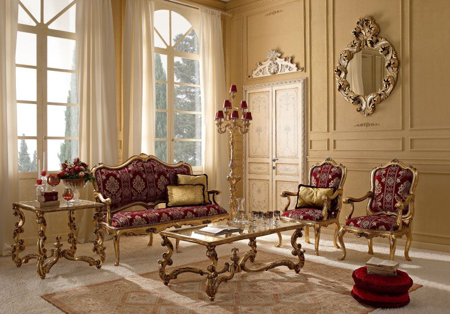 Italian Classic Luxury Wooden Living Room Furniture Luxury