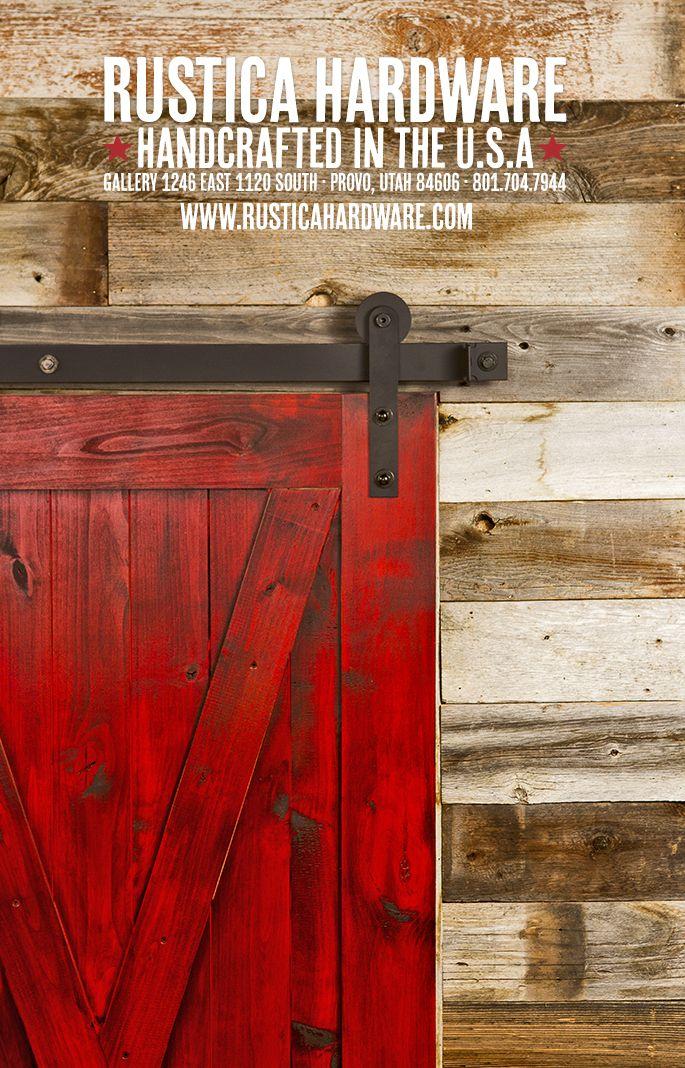 Modern Hanger Red Door This Is A Great Combo Rollingbarndoor Rusticahardware Red Barn Door Barn Door Barn Doors Sliding