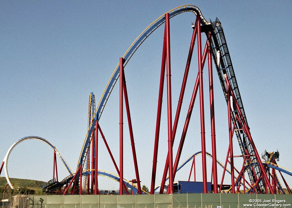 Scream Six Flags Magic Mountain Roller Coaster Roller Coaster Pictures Thrill Ride