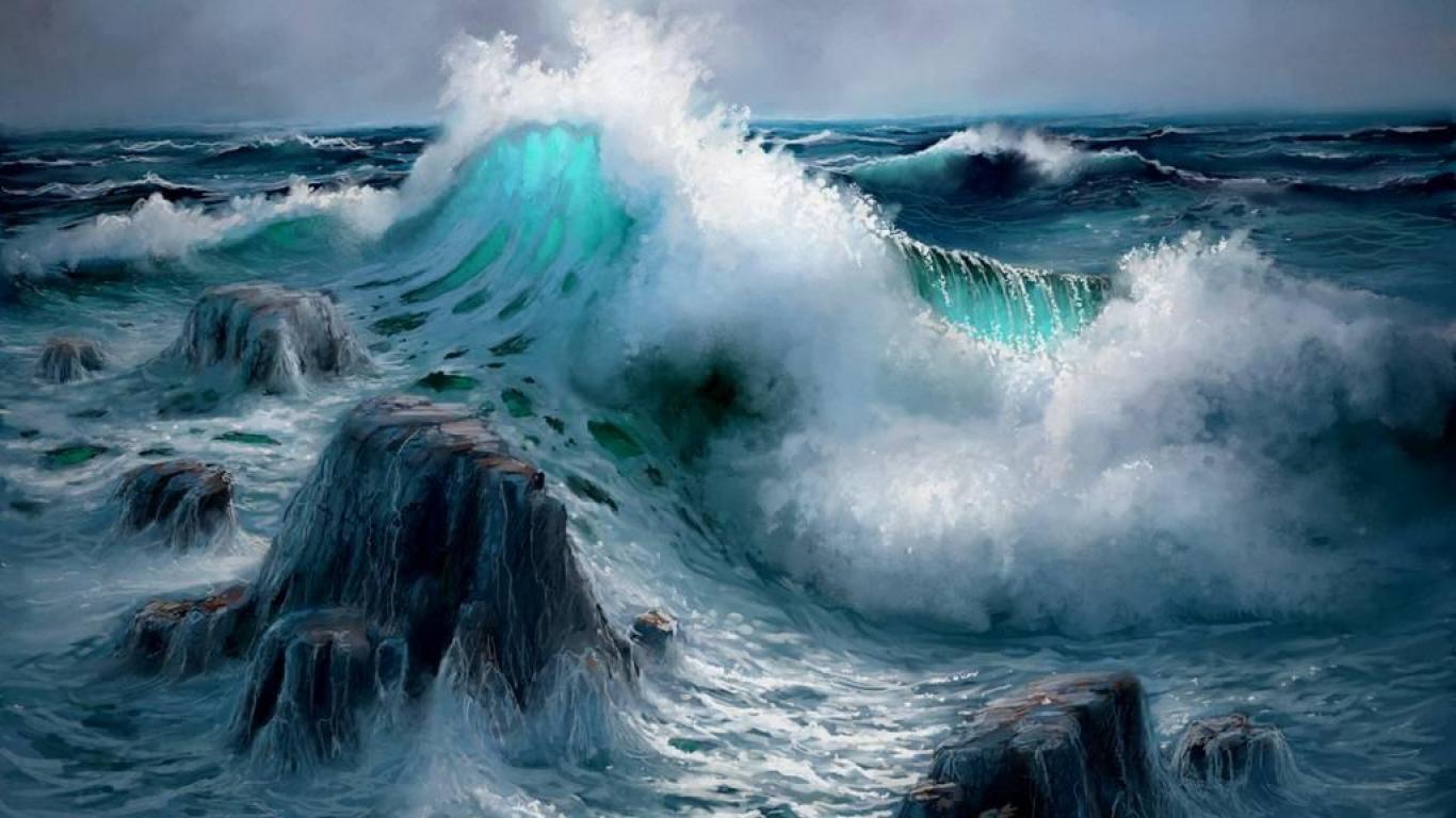 Ocean Waves Crashing Wallpapers Ocean Waves Crashing On Rocks High Quality And Resolution Ocean Waves Waves Ocean