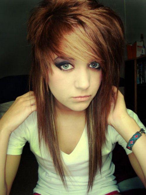 Emo frisur lange haare