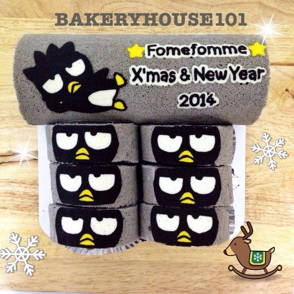 Bad Badtz Maru Paint Roll Cake^_^ รับทำ Roll Cake ตาม Order ค่ะ ที่ ร้านอาหาร Bakeryhouse 101 Sukhumvit101/1