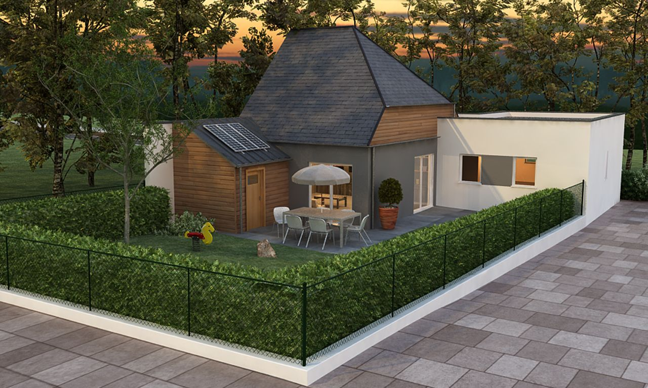 Architecture 3d ext rieur maison jardin for Architecture jardin