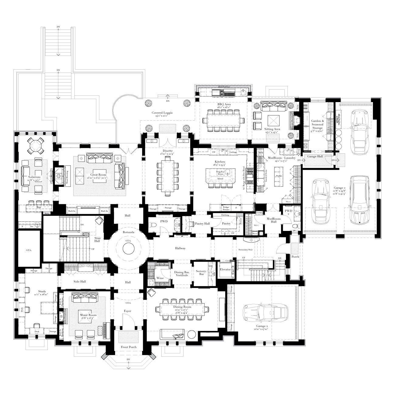Mansion Floor Plans: The Balsam Estate Floorplan