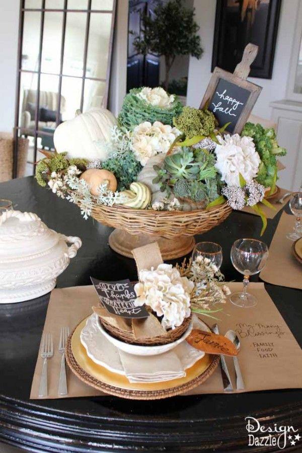 The Grateful Table: My Thanksgiving Tablescape #herbstlichetischdeko
