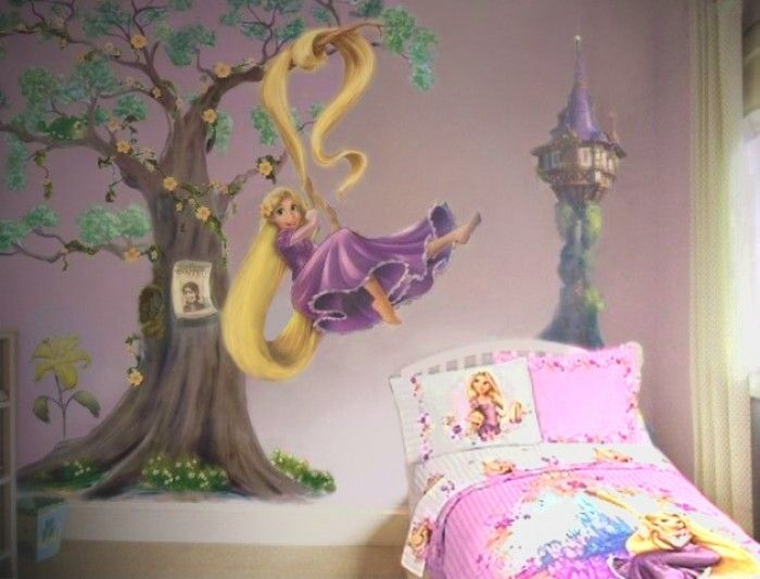 Sipi Design muurschildering Disney Tangled Rapunzel in boom 1414232777 van SiPi Design jpeg (700