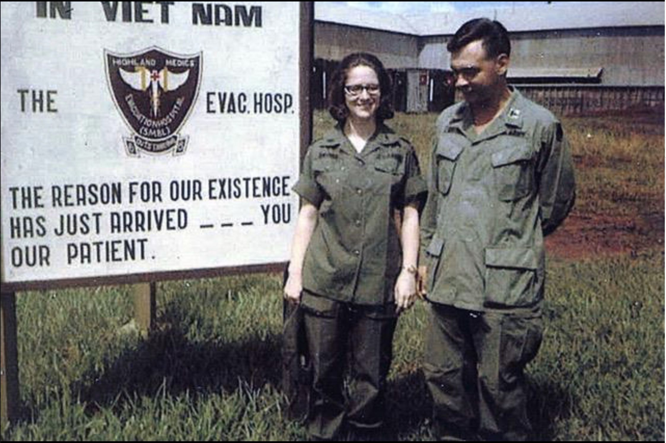 Unknown Nurse and Doctor at the 71st Evac Hospital. Army