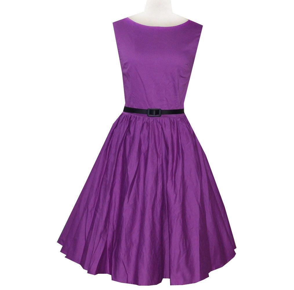 Purple Belted Vintage Dress | Moda femenina, Femenino y Me encantas