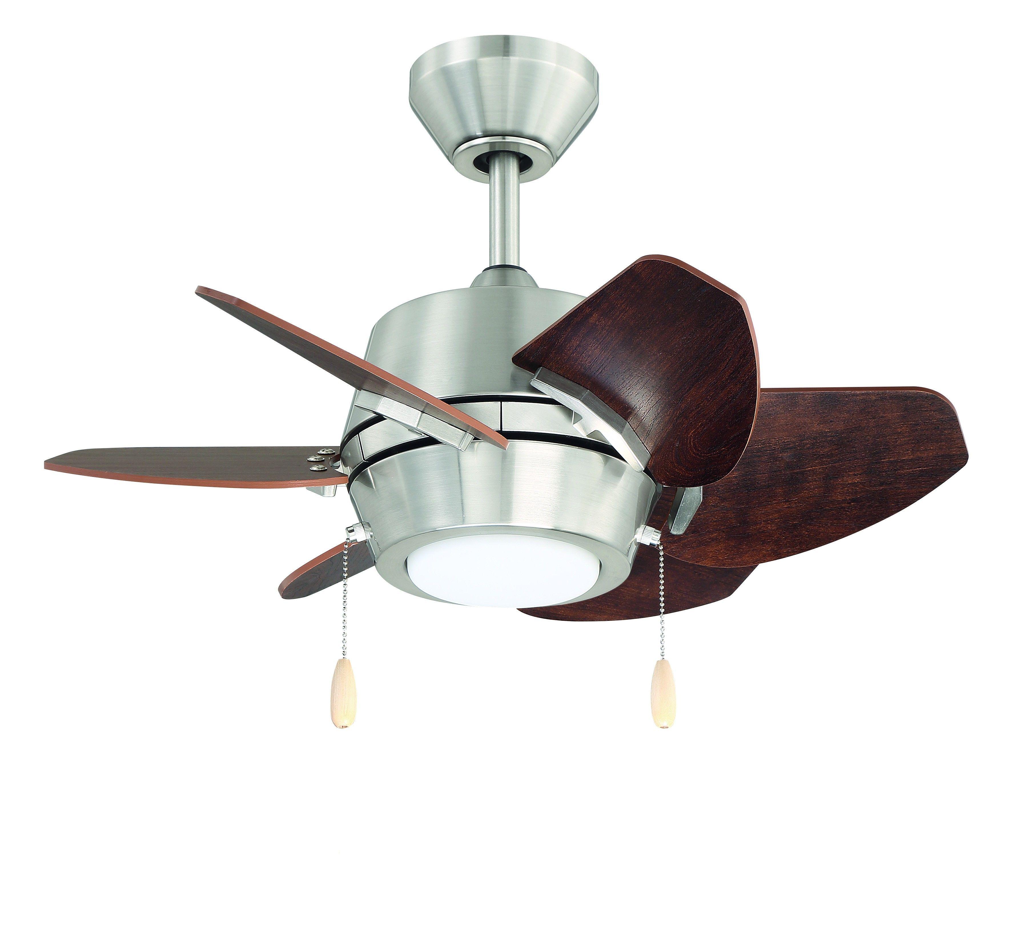 Litex Gaskin Dual Mount 6 Blade Ceiling Fan 24 In Led Light Kit In Brushed Nickel With Glazed Cherry Or Driftwood Blades In 2020 Ceiling Fans Without Lights Ceiling Fan Switch Ceiling Fan Parts