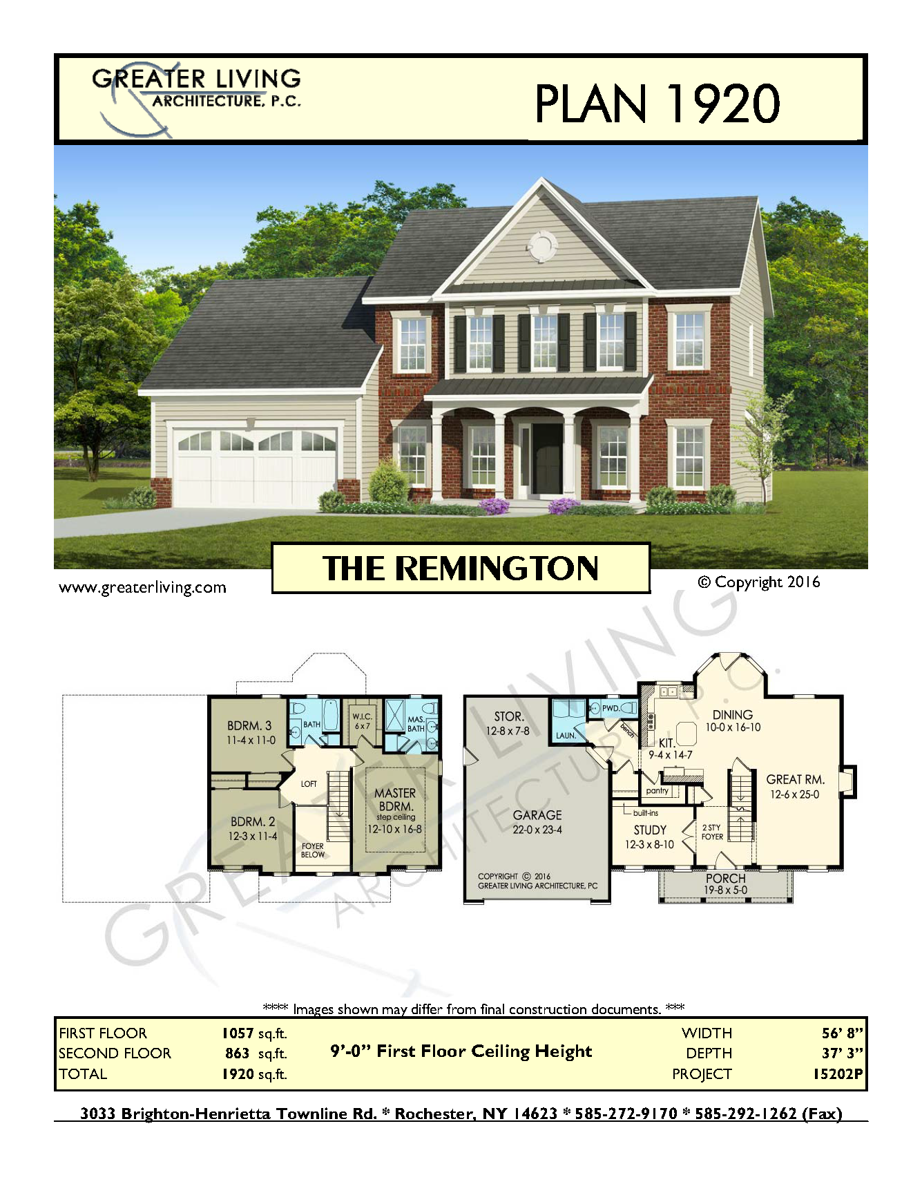 Plan 1920: THE REMINGTON | Greater living architecture homes ...