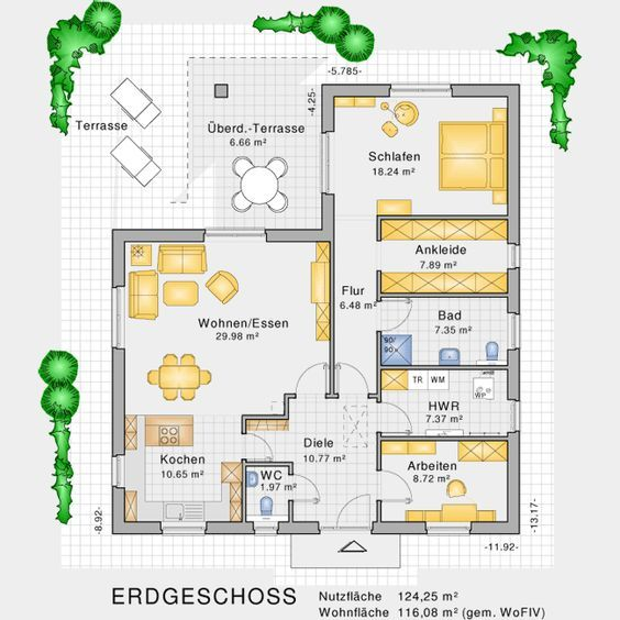 bungalows barrierefreies wohnen auf einer ebene bauunternehmen nagelbau gmbh 2 bed house. Black Bedroom Furniture Sets. Home Design Ideas