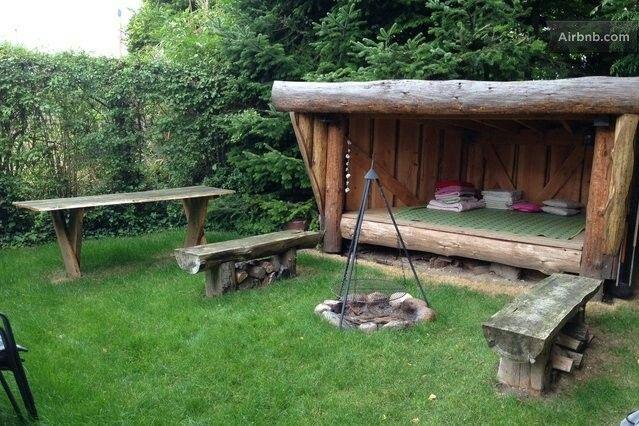 Outdoor Fire Pit Shelter : Shelter ved bålplads garden inspiration pinterest