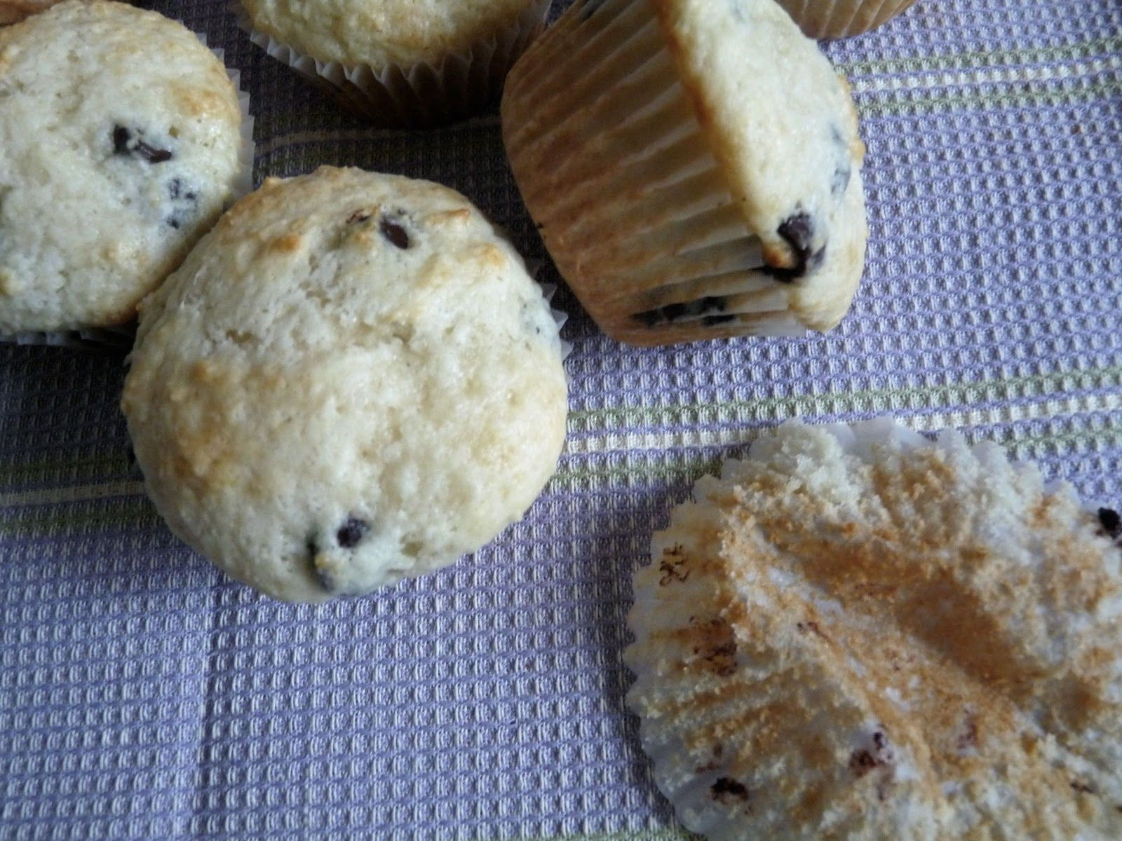 Sour Cream Chocolate Chip Muffins  I replaced 1/2 of the