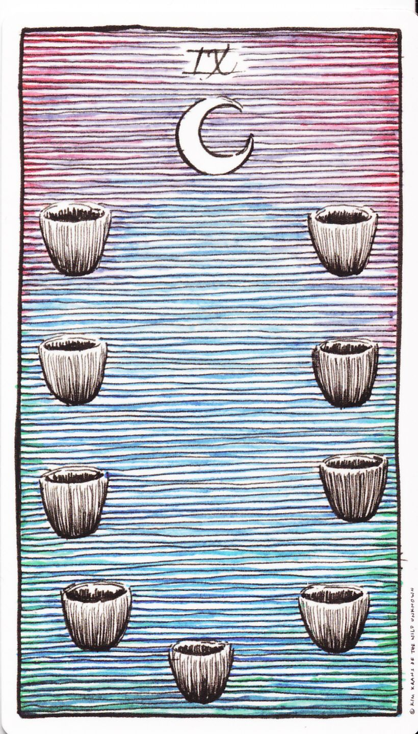 Image result for the wild unknown tarot 9 of cups