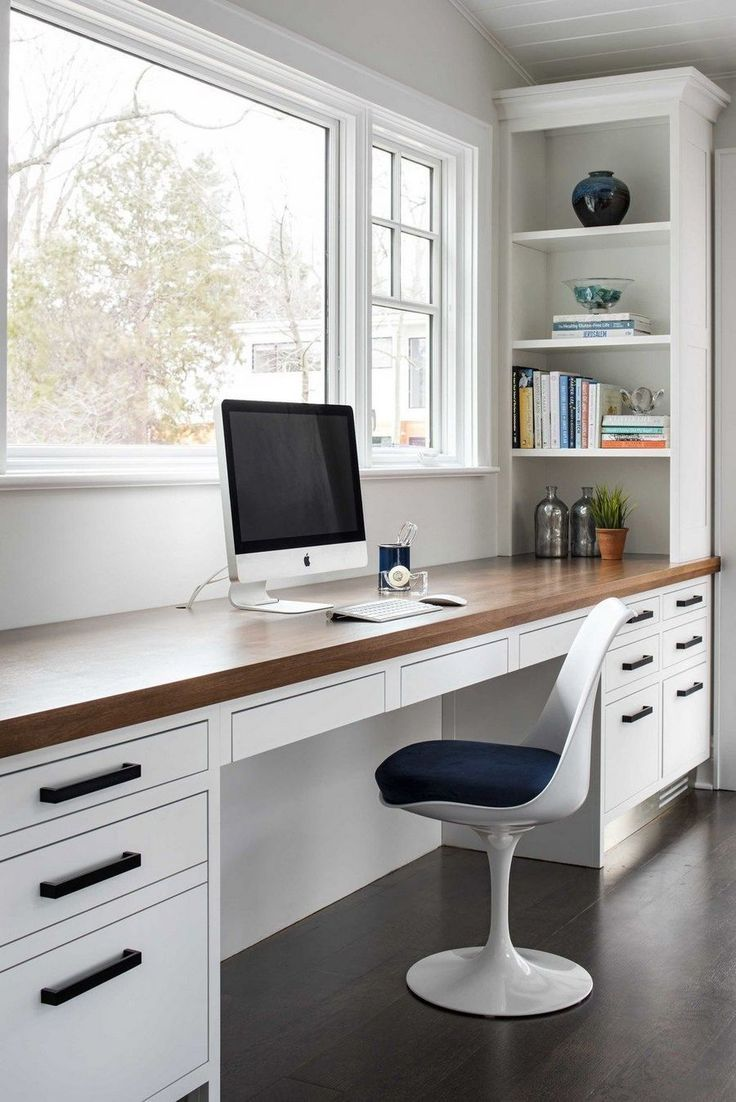 40 Scandinavian Home Office Design With Look Simplicity Elegance Guest Room Office Home Office Design Home Office Decor