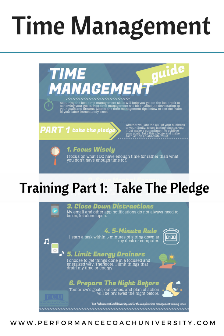 Time management is a very important part of coaching and