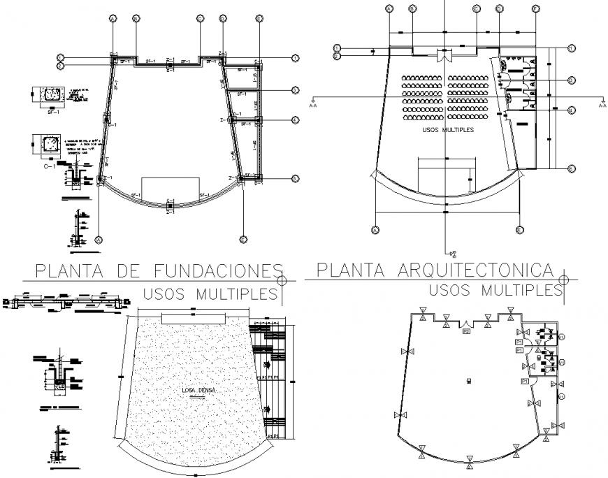 Multipurpose Hall Floor Plan DWG File