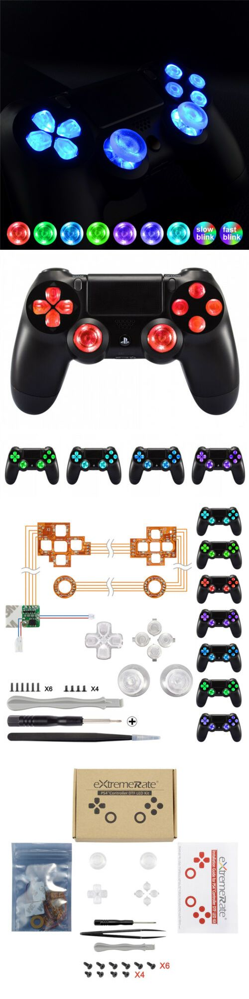 Replacement Parts and Tools 171833: Multi-Colors D-Pad