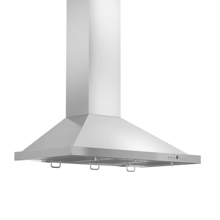 Zline Kitchen Bath Ducted Stainless Steel Wall Mounted Range Hood Common 42 Inch Actual 42 In Lowes Com Wall Mount Range Hood Stainless Steel Range Hood Stainless Steel Range