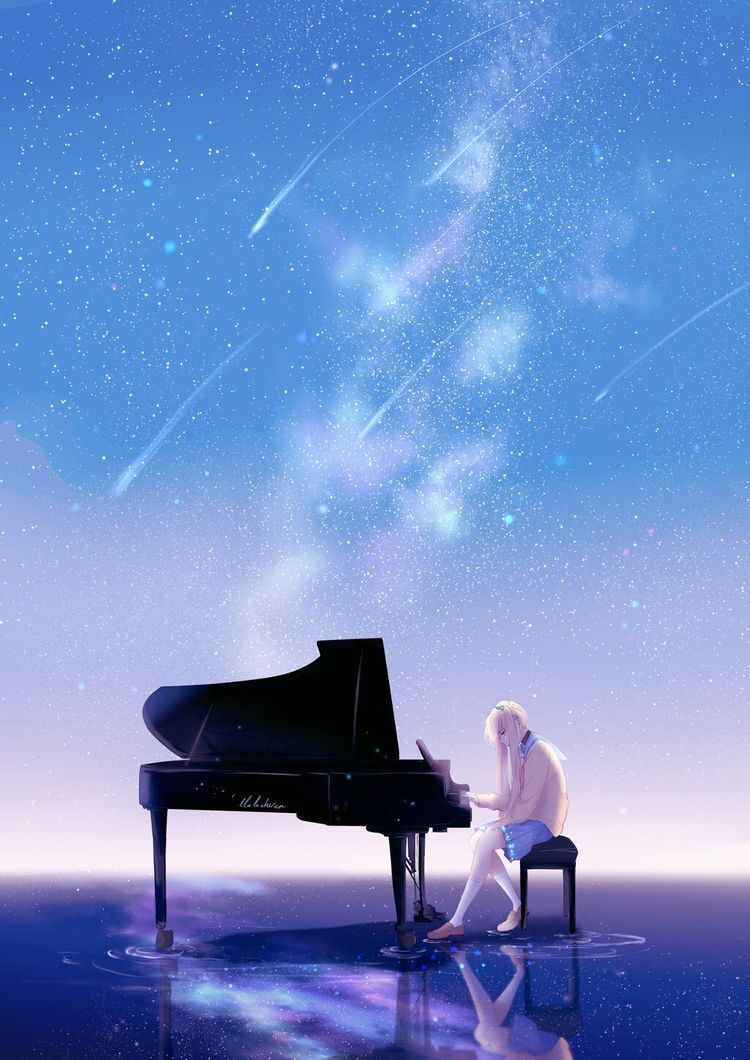 Pin By 𝗫𝗼𝗽𝗶𝗼𝗱 On Wallpapers Piano Anime Piano Art Anime Galaxy