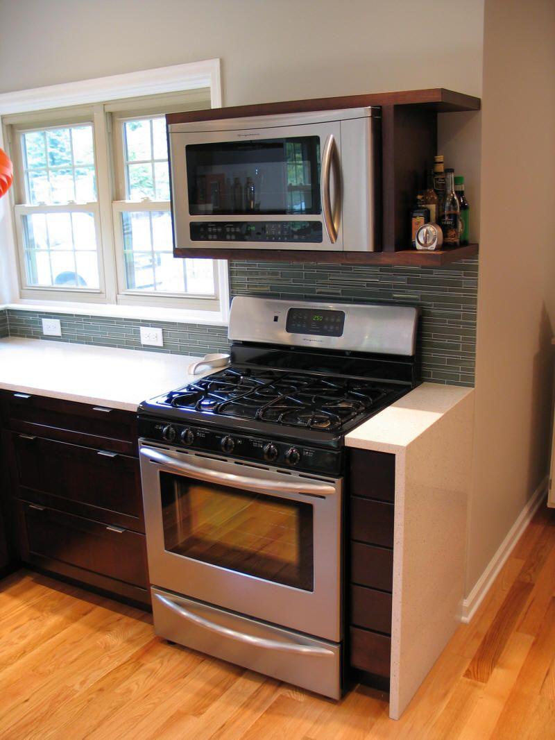 Microwave Wall Mount Shelf Modern Kitchen Furniture Photos