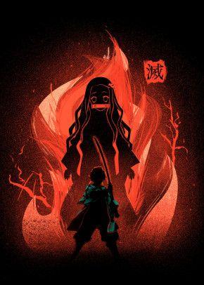 'Dance of the fire god' Poster Print by Ilona Hibernis   Displate