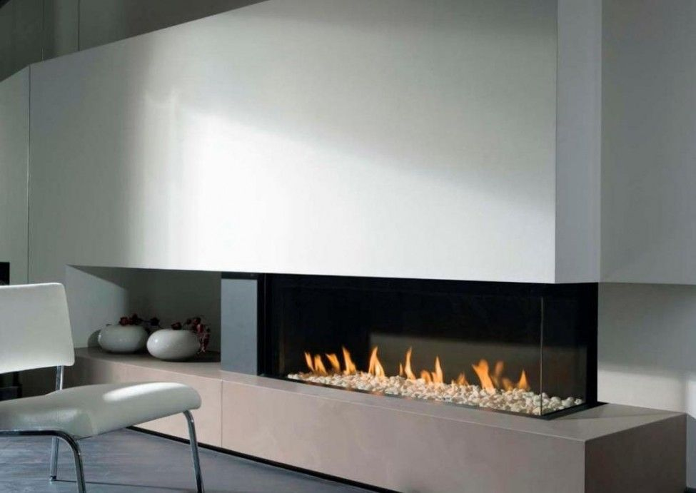 34 Modern Fireplace Designs With Glass For The: Modern Long Indoor Electric Fire Pit Ideas Insert Wall