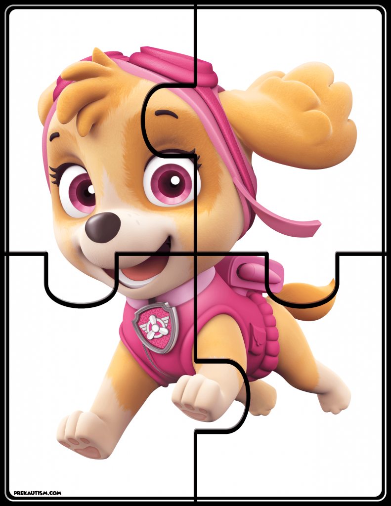 Paw Patrol Puzzles Paw Patrol Toddler Development Toddler Activities [ 1024 x 791 Pixel ]