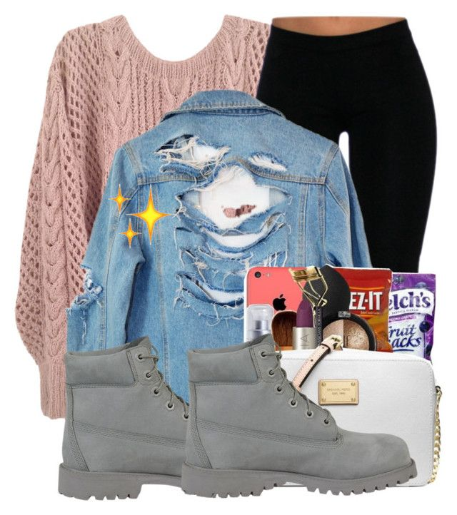 """""""#21:Denim Jacket Contest"""" by tyjaiitamia1 ❤ liked on Polyvore featuring High Heels Suicide and Timberland"""