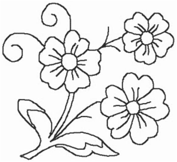 Riscos Flores Para Bordar Em Ponto Russo Bordado Japones